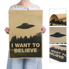 """Classic Kraft paper """"I Want To Believe"""" Vintage Stickers Poster Home Wall Decor"""