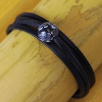 Damenarmband Surferarmband Blumenarmband Lederarmband Armband Wickelarmband Goa