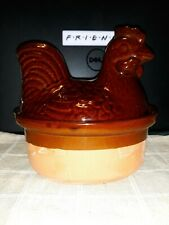 Rooster Covered Casserole Tureen 16 oz Oven Proof  Microwave Safe