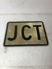 Old Vintage Retired Texas Jct (Junction) Highway Street Sign 21 X 15�