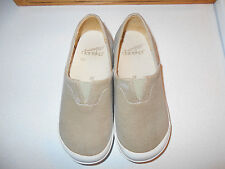 """Girls """"Dansko"""" Tan Canvas Slip On Clogs-Size Us 11 to 11.5-Eur 29-Great Used"""