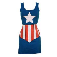 Marvel Captain America Junior Sexy Tunic Woman Tank Dress