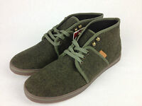 VANS. Women's or Men's CAMRYN Green Wool Twill HI Shoes. Womens US 10, 10.5, 11.