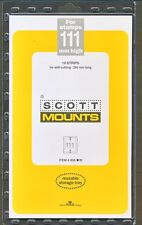 Prinz Scott Stamp Mount 111/265 BLACK Background Pack of 10