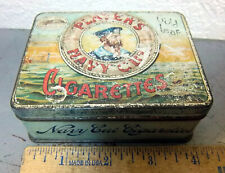 Players Navy Cut Gold Leaf Cigarettes tobacco tin, Embossed Logo on lid of tin