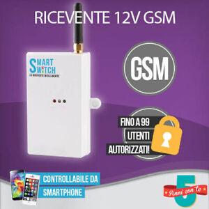 RICEVENTE GSM CANCELLO APRIPORTA CALDAIA LUCI CONTROLLO REMOTO ANDROID IPHONE
