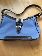 ETIENNE AIGNER Handbag Purse Shoulder Bag, Blue Brown Leather Trim