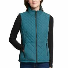 Womens Andrew Marc Quilted Insulated Full Zip Vest Cypress Medium