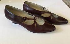 Beene Bag Size 7.5 Deep Burgundy Leather Vintage Kitten Heels Made in Italy