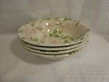 4pc set ~ Burleigh Ironstone Staffordshire England roses Serving Dishes Bowls