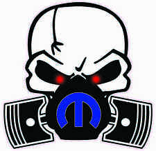 """Skull Mask Mopar Blue Large Decal 12"""" in size Free Shipping"""