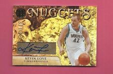 KEVIN LOVE Autograph Auto Signed TIMBERWOLVES 2011 PANINI NUGGETS SER #d 8/25