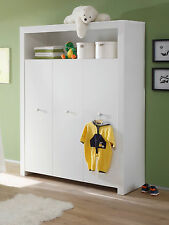 Kleiderschrank wei�Ÿ 3 türig Kinder Baby Zimmer Schrank Möbel Olivia rosa blau GS