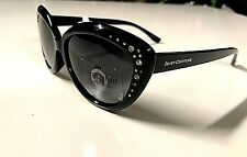 New Juicy Couture Cat eye Designer Women's Sunglasses Black/Rhinestone Authentic