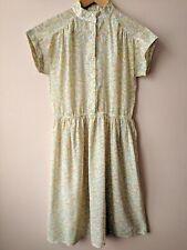 80s Vintage Sheer Floral Shirt Dress Shirtwaister 8 10 St Michael Summer