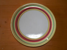 "Dansk LEMON ZEST Set of 2 Dinner Plates 10 3/4"" Yellow Green Red Bands"