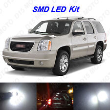16 x White LED interior Bulbs + License Plate Lights For 2000-2014 GMC Yukon XL