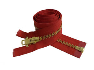 Talon Red Nylon Tape With Metal Pull 22 Separating Zipper