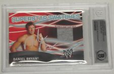 Daniel Bryan Signed 2011 Topps WWE Superstars Swatches Relic Card BAS COA Auto'd