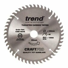 Trend Plunge Saw Wood Blade 160 mm x 48 Teeth x 20 mm Festool TS55 HK55 TYZACK