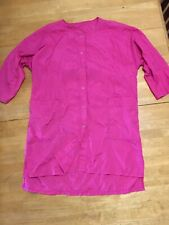 Nylon Pink Hairdresser Hair Stylist Grooming Coat Gown Cover Pockets Snaps XL