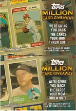 2010 Topps Update Baseball Million Card Giveaway 27 Card Lot Codes Unused