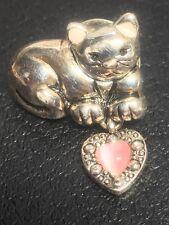 Vintage Cat or Feline Brooch or Tie Tac