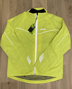 Mens Madison Cycle Hi-Viz Yellow Protec Men's Waterproof Jacket Size Large