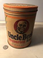 Vintage 1985 UNCLE BEN's 64 oz. Converted Rice storage container Tin Can