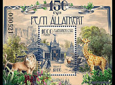 Budapest Zoo 150 years mnh souvenir sheet 2016 Hungary Lion Giraffe
