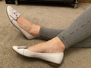 Ted Baker White  Leather Ballet Pumps Size 7 EUR 40 US 9