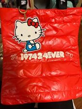 Hello Kitty Sanrio Canvas Bag 45th Friends Around The World Tour 15.5x13 Inches