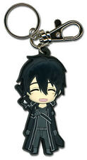 **License** Sword Art Online PVC Keychain SD Happy Kirito #36748