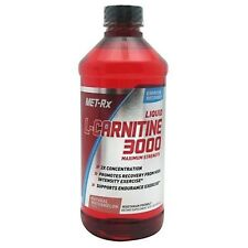 Met Rx Liquid L-Carnitine 3000 Natural Watermelon 16 oz Supports Fat Loss
