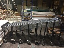 "Bestflex  Accordion Gravity Conveyor 24' long x 24"" Good Condition Used TL 2"