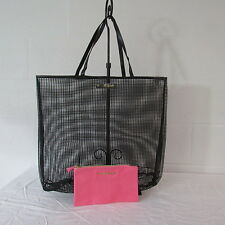 Victoria's Secret Logo Sheer Rubber/Silicone Tote/Beach Bag W/Pink Cosmetic Bag