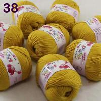 Sale lot 8 Skeins x50g Cashmere Silk Wool Children hand knitting Crochet Yarn 38