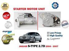 PARA JAGUAR S-TYPE 2.7D CCX 207BHP 2702cc 2004-10/2007 MOTOR DE ARRANQUE UNIDAD