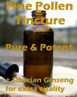 Pine Pollen Tincture 100ml - Pure Wild Harvested & Organic - Raw, pure & potent
