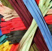 10 Reißverschlüsse unteilbar Spirale 3 mm  30-35-40 cm 50 Farben