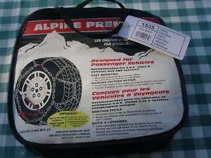 """NIB Les Schwab Laclede Alpine Premier Tire Chains #1535 14"""" and 15"""" Tires"""