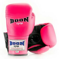 BOON  BOXING GLOVES LACE UP BGLP PINK 8,10,12,14,16 OZ.SPARRING MUAY THAI MMA K1