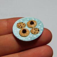 Dollhouse Miniature Chocolate Cookies - Artist Sculpted Limited Run - Cute Foods
