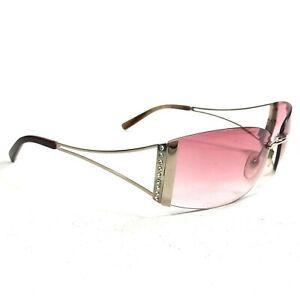 Tommy Bahama Sunglasses TB101SA Rose Gold Rimless Rectangular w/ Pink Lenses 130