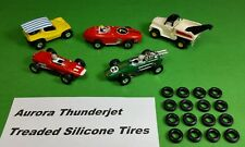 ☆16 Treaded Silicone Tires☆ For Aurora Model Motoring Tjet Ho Slot Car Parts