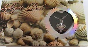 Mystic Pearl- Clam Shell Necklace & Pendant- genuine pearl in oyster- pretty box