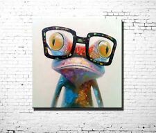 """Modern abstract huge oil painting canvas::""""happy frog"""" (with framed)"""