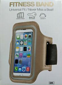"""GEMS New NWT Fitness Band Universal Fit Gray Reflective Neoprene iphone 5, 15"""""""