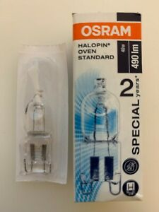 Osram 40w Oven Bulb Lamp Cooker Appliance Light  G9 2700k Halogen Halopin 490lm