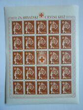 KROATIEN /CROATIA 1942 Rotes Kreuz/red cross 5 Kleinbögen/sheets
